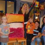 Kunstprojekt in der Kita Arche Noah: </br>Kinder bringen Bilder auf die Leinwand