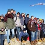 Winterfreizeit der Kreisjugendpflege</br>Jugendliche fahren Ski und Snowboard
