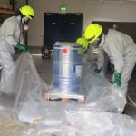 Ausgebeultes Stahlfass sorgt für Großeinsatz</br>Gefahrgutspezialisten unterstützen Feuerwehr