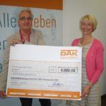 Geldspritze für einen guten Zweck</br>DAK-Gesundheit unterstützt DVMB mit 4.000 Euro