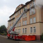 Rettung aus höchster Gefahr</br>Übung der Feuerwehr und des Rettungsdienstes