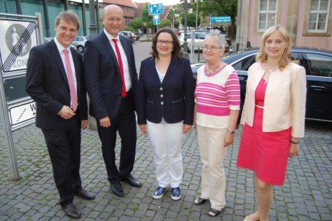"""""""Nationalismus ist Krieg – das dürfen wir nicht dulden""""</br>Andrea Nahles Gastrednerin auf SPD-Wahlkreiskonferenz"""