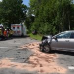 Schwerer Verkehrsunfall auf der Kreuzung K 34/44