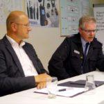 Assistenzsysteme in Lkw sollen schwere Unfälle vermeiden</br>Karsten Becker im Gespräch mit Kreisfeuerwehr
