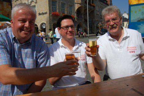 CDU verteilt Flyer – und Freibier</br>Sommerfest mit Musik auf Marktplatz