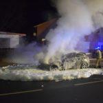 Brennender BMW