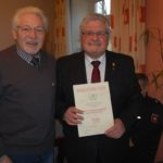 Ehrenschild für Wolfgang Gransee</br>Auszeichnung für 20-jährige Vorstandsarbeit