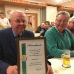 Oskar Purmann zum Ehrenmitglied ernannt</br>Jahreshauptversammlung Spielmannszug