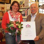 """Zertifizierung für Stadtbücherei</br>Bibliothek """"mit Qualität und Siegel"""""""