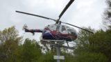Werbung für die Stadt der Hubschrauber</br>Offizielle Einweihung des Hubschraubers an der B 83