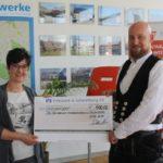 """500 Euro für """"Chic für Chancen""""</br>Spende der Firma Ahrens"""
