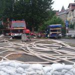 10.000 Sandsäcke gemeinsam mit Bürgern gefüllt</br>Kreisfeuerwehrbereitschaft in Alfeld im Einsatz