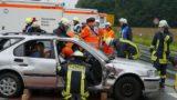 Gemeinsame Übung der Rettungskräfte</br>Massenanfall von Verletzten bei simuliertem Unfall