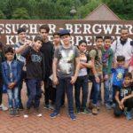 Ausflug der Flüchtlingskinder</br>Besichtigung Besucherbergwerk Kleinenbremen