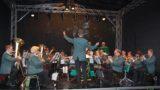 Jäger blasen gegen den Regen an</br>Sommerkonzert Blasorchester im Palais-Garten