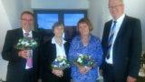 Drei Jubilare in der Volksbank in Schaumburg