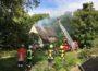 Dachstuhlbrand eines leer stehenden Wohnhauses