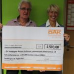 4.500 Euro für einen guten Zweck</br>DVMB freut sich über DAK-Gesundheit-Spende