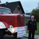 Thomas Reichelt jetzt Ehrenortsbrandmeister</br>Matthias Lossie zum Ortsbrandmeister ernannt