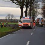 Schwerer Verkehrsunfall</br>Schwerstverletzter Fahrer mit Rettungshubschrauber in MHH