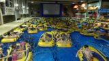 """Kinder genießen im Schlauchboot """"Vaiana""""</br>Bückeburger Bäder GmbH toppt mit Aqua-Kino"""