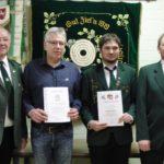 Schützenverein ehrt langjährige Mitglieder</br>Mirko Przybylski bleibt 2. Vorsitzender