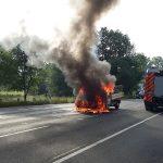 Fahrzeugbrand auf B 83
