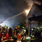 Gebäudebrand sorgt für Großeinsatz</br>Drei Einsätze für die Feuerwehr am Samstagabend