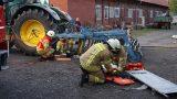 Brennende Scheune</br>Übung der Feuerwehren