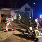 Brennende Garage