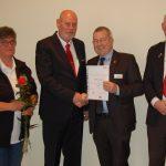 150 neue Mitglieder für DRK-Ortsverein</br>Ehrung für Peter Lampe und Gisela Bredt – 45 Jahre Treue zum DRK