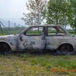 Abgemeldetes Auto ausgebrannt