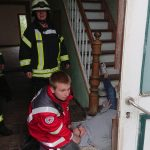 Feuerwehr übt Türöffnung