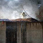 Großbrand in einer Lagerhalle