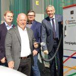 Ladesäule am Hubschraubermuseum eröffnet</br>Stadtwerke investieren rund 10.000 Euro