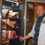 Kulinarische Schätze im E-Center Fabig</br>Rindfleisch lagert in speziellem Reifeschrank 28 Tage lang