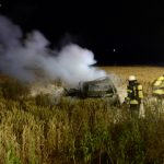Unfallfahrer kommt in Flammen um