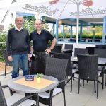 """Neue Terrasse am Restaurant """"Melathron""""</br>Zugang für Menschen mit Benachteiligungen"""