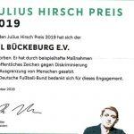 """""""Sie bewahren Menschlichkeit und Toleranz""""</br>DFB dankt VfL-Freizeitliga für Bewerbung um Julius Hirsch Preis"""