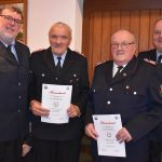 Erweiterung oder gemeinsamer Neubau?</br>Feuerwehr ehrt Heinz und Hubert Steinert für 60-jährige Mitgliedschaft