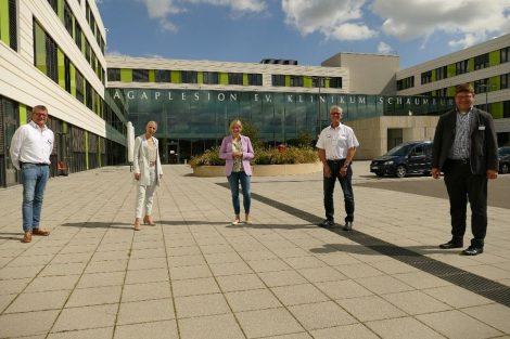 Marja-Liisa Völlers (MdB) besucht Klinikum</br>Gespräche mit Geschäftsführung und Mitarbeitervertretung
