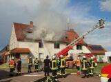 Großbrand in Haste