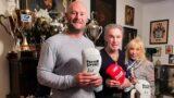 """DRK-Ortsverein: </br>Vorsitzender Sven Lampe besucht """"Champ"""" René Weller"""